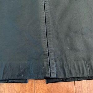 Vintage Skirts - Vintage Genuine Leather Midi Skirt Pleated Pockets
